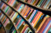 Library bookshelf.