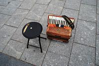 Fisarmonica del musicista di strada