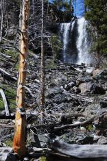 Ephermal Waterfall near Mystic Falls in Yellowstone National Par