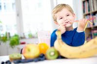 Toddler enjoying Fruit Shake Smoothie