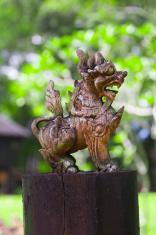 Carved Wooden Lion