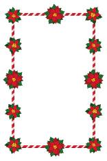 Poinsettia christmas frame stock photos for Poinsettia christmas tree frame
