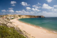Praia da Mareta beach on Portugal's Algarve coast in Sagres