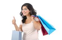 Young Arab Female Shopping