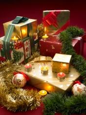 Christmas presents scene