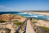 Praia da bordeira beach path on Portugal's Algarve coast