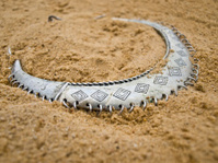 African necklace on the sand