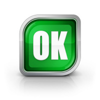 green ok glossy front icon