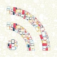 RSS symbol gadgets seamless pattern