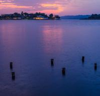sunset a Peten Itza lagoon
