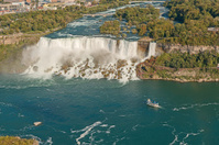 Aerial View on Niagara Falls from Skylon Tower