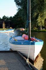 Sailing boat on boating lake
