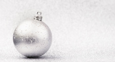 Silver christmas ball background