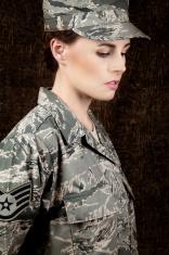 U S Airwoman Portrait