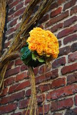 Yellow roses decoration
