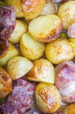Pork accompanied by potatoes