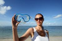 Woman Holding Scuba Diving Mask