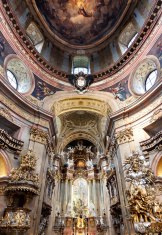 Ceiling and altar of Peterskirche, Vienna, Austria
