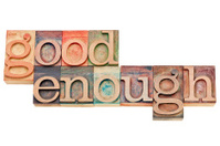 good enough - phrase in wood type