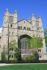 University of Michigan Law School, Ann Arbor, Clear blue sky.