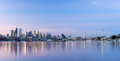 Seattle City Skyline at Night USA