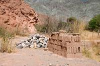 Adobe bricks and stones