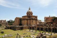 View of a basilica. Roman Forum. Rome