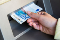 Getting cash from ATM..twenty euro bills