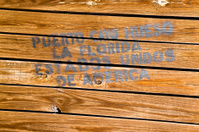 Wooden shipping crate marked for Florida, USA