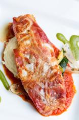 Pancetta Wrapped Sea Bass