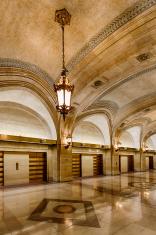 Granite and marble lobby