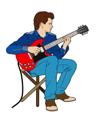 Guitarist sitting