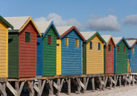 Beach huts at Muizenberg False Bay South Africa