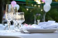 Romantic wedding setting