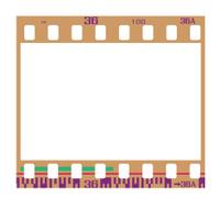 retro negative film frame