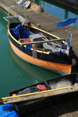 Fishing boat. Brighton Marina. Sussex. England