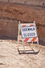 Signs: Sidewalk Closed
