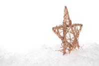Christmas decorative star on the snow