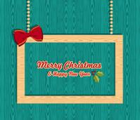 Retro Christmas greeting sale frame