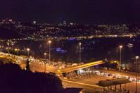 Traffic jam at Bosphorus Bridge