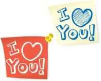 I Love You, Sticky Post-It Note
