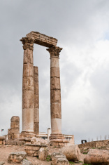 Temple of Hercules in antique  Amman citadel