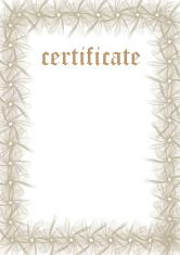 Certificate Template - Fill & Print Series