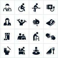 Black Nursing Home Icons
