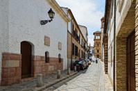 Narrow street in the ancient Granada
