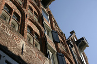 Warehouse, Deventer, Netherlands, windows, blue sky
