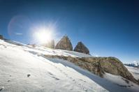 The Dolomites in Winter, Tre Cime di Lavaredo, Italy