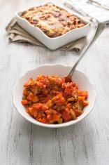 Cooked veggies for vegetarian lasagne