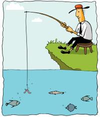 Fishing Businessman