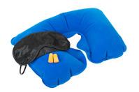 Inflatable Neck Pillow, Sleeping mask and earplugs